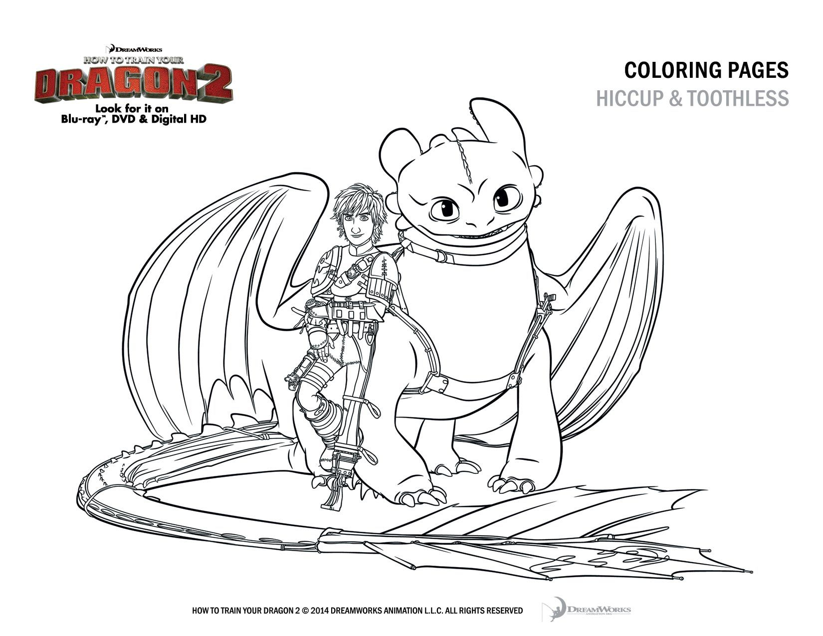 how to train your dragon 2 coloring sheet hiccup and toothless printable coloring pages of