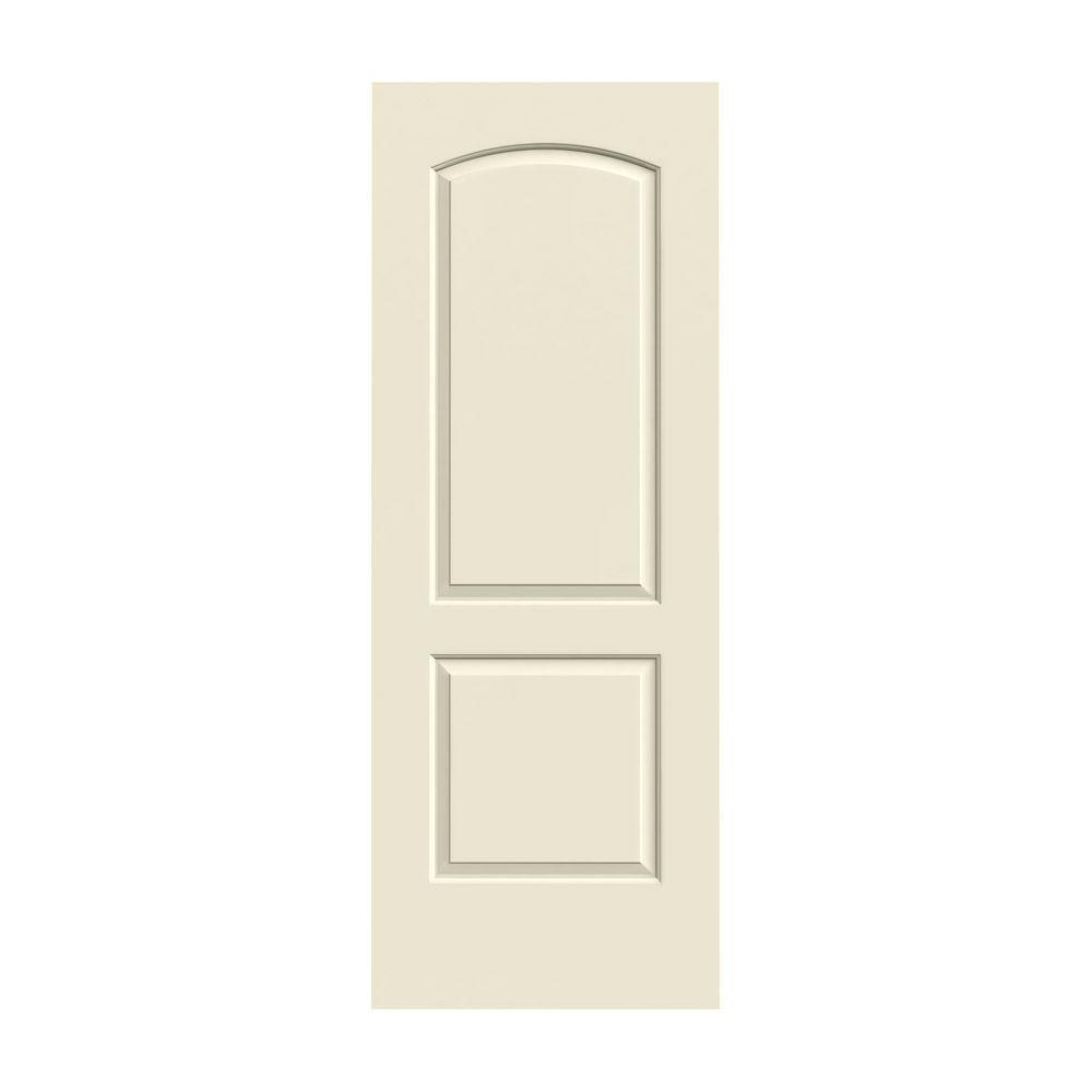 solid doors home depot. 2 panel arch top doors  Painted a soft black color JELD WEN Smooth Arch Top Primed Molded Interior Door Slab at The Home Depot 28 in x 80 Panel Solid Core
