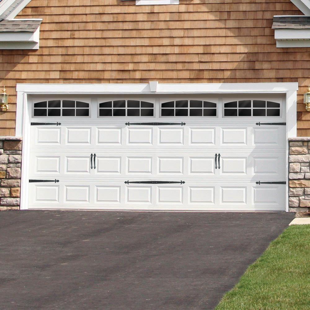 Everbilt Premium Decorative Black Garage Door Hardware Kit 10100 The Home Depot Garage Door Decor Garage Door Trim Garage Door Decorative Hardware