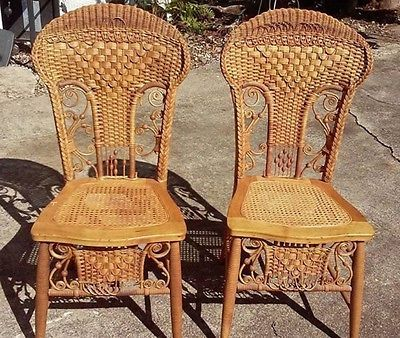 LAST CALL RARE Heywood antique wicker chair, Auction Price Per Chair - LAST CALL RARE Heywood Antique Wicker Chair, Auction Price Per Chair