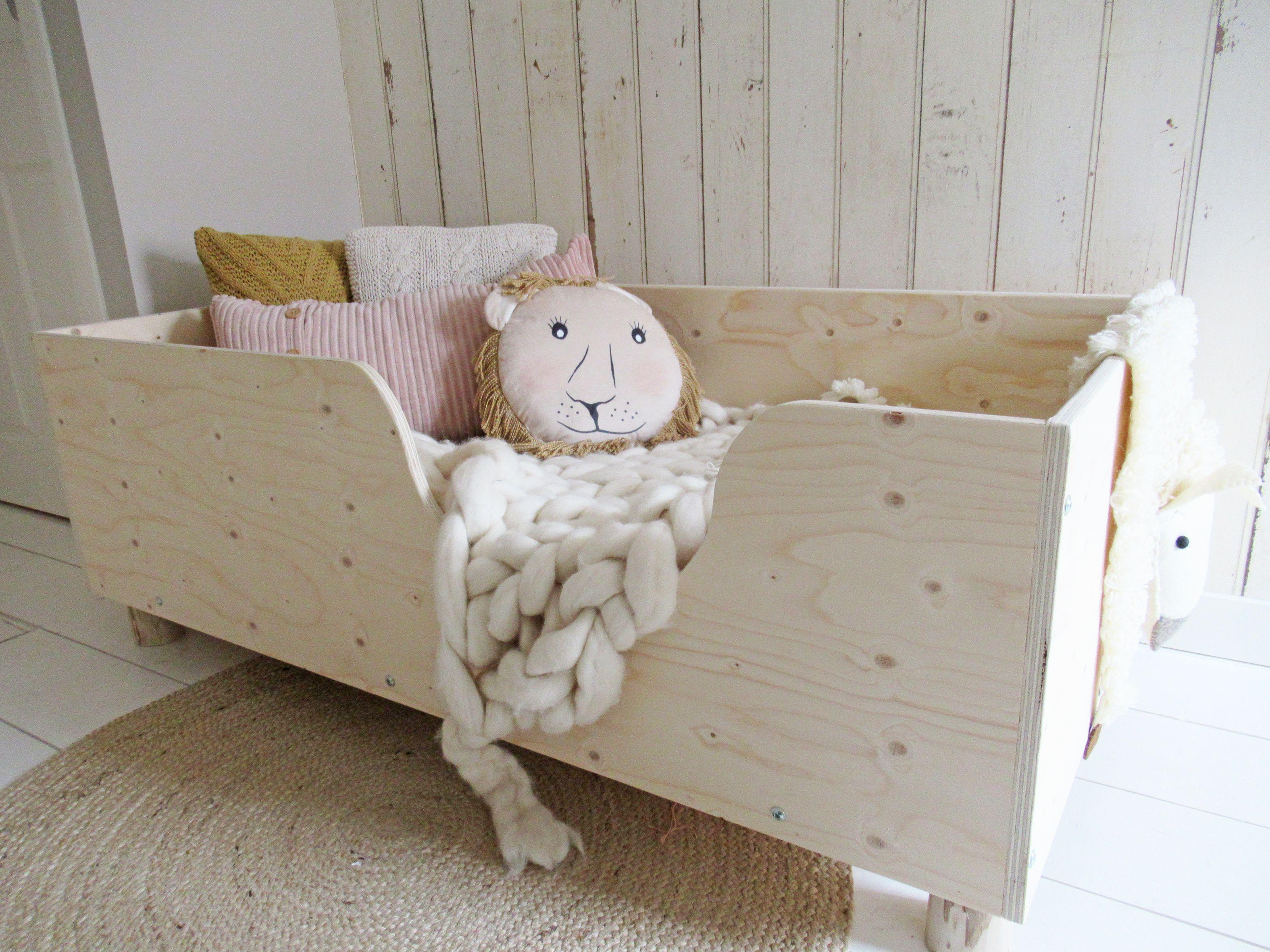Spiksplinternieuw Peuterbed hout - kinderkamer naturel #kindermeubels VG-73