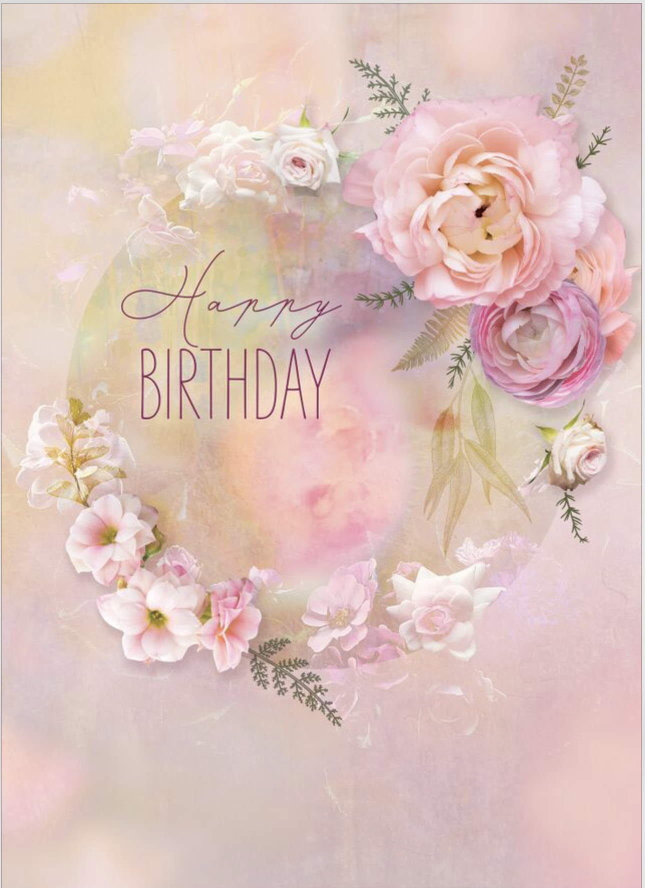 Pretty In Pink Send Birthday Wishes With This Soft And Floral Birthday Card From Lar Birthday Wishes Flowers Happy Birthday Wishes Cards Happy Birthday Flower
