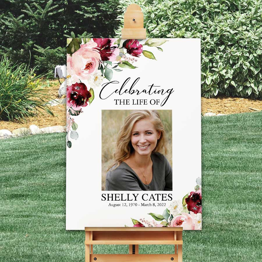 Memorial Chalkboard Funeral Memorial Funeral Poster Funeral Portrait Funeral Welcome Sign Memorial Service Celebration of Life Poster