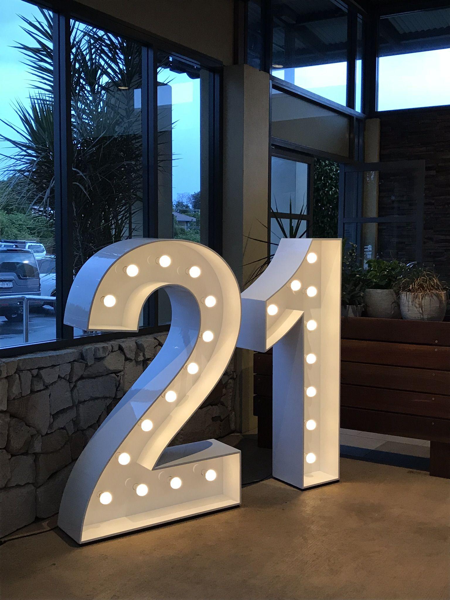 1 2m Tall Light Up Numbers 21st Decorations 21st Birthday Sign 21st Birthday Presents