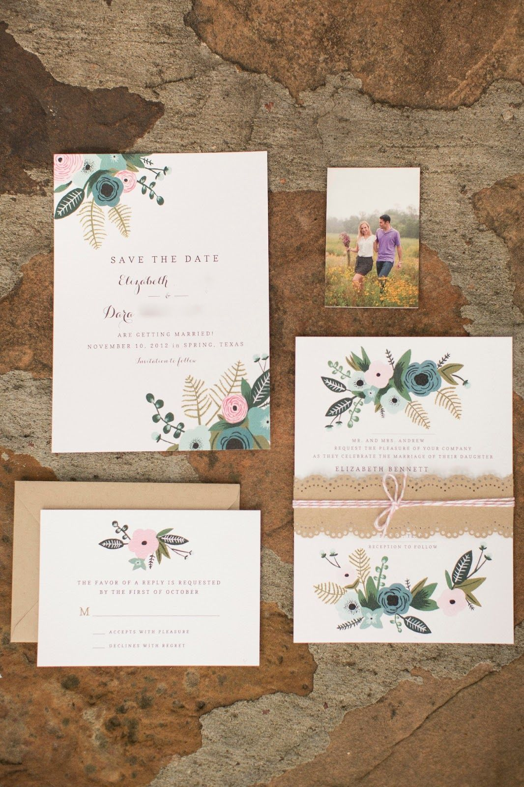 b03681b95dd0af2b92c46bcba610581d mrs wallaby hand painted her invitation suite inspired by rifle,Invitations Co