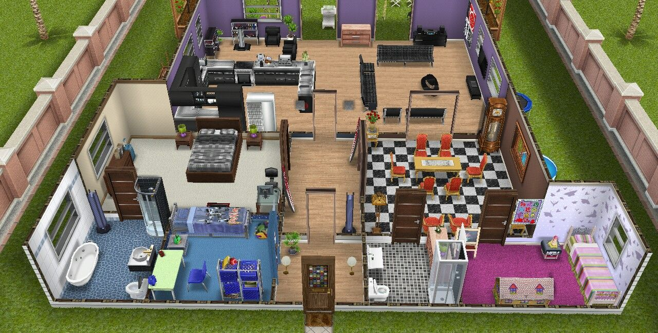 The Sims Freeplay House Guide Part One Sims Freeplay Houses Sims House Plans Sims House