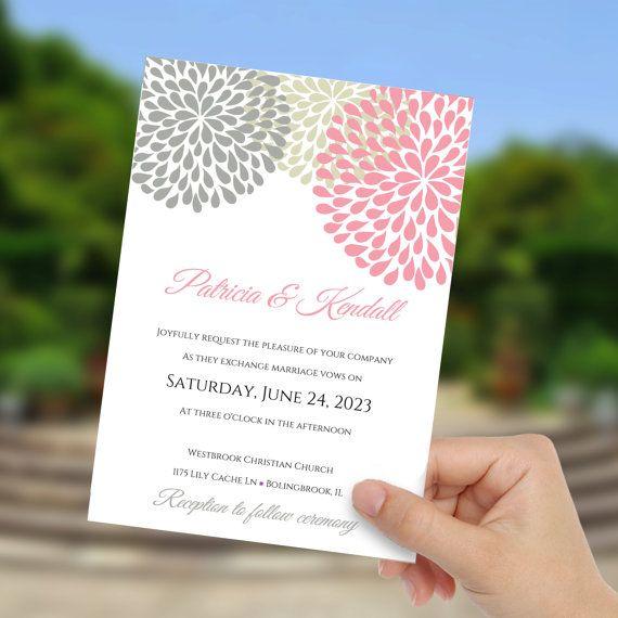 Wedding invite Template 5x7,DiY,DIY Wedding Template,Instant