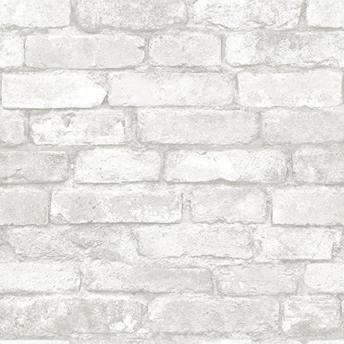Nuwallpaper Nu3010 Grey And White Brick Peel Stick Wallpaper Amazon Com Textured Brick Wallpaper Brick Effect Wallpaper Exposed Brick Wallpaper