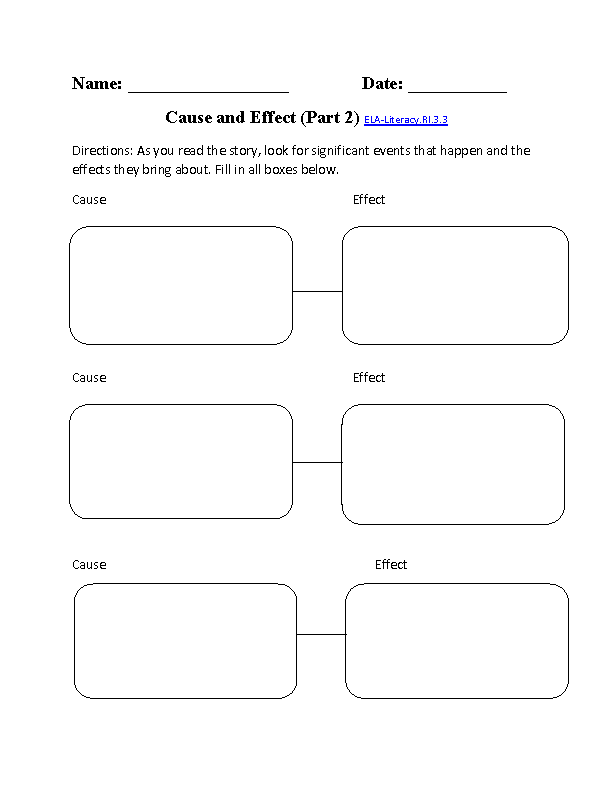 Cause And Effect Worksheet Ela Literacyri33 Reading Informational