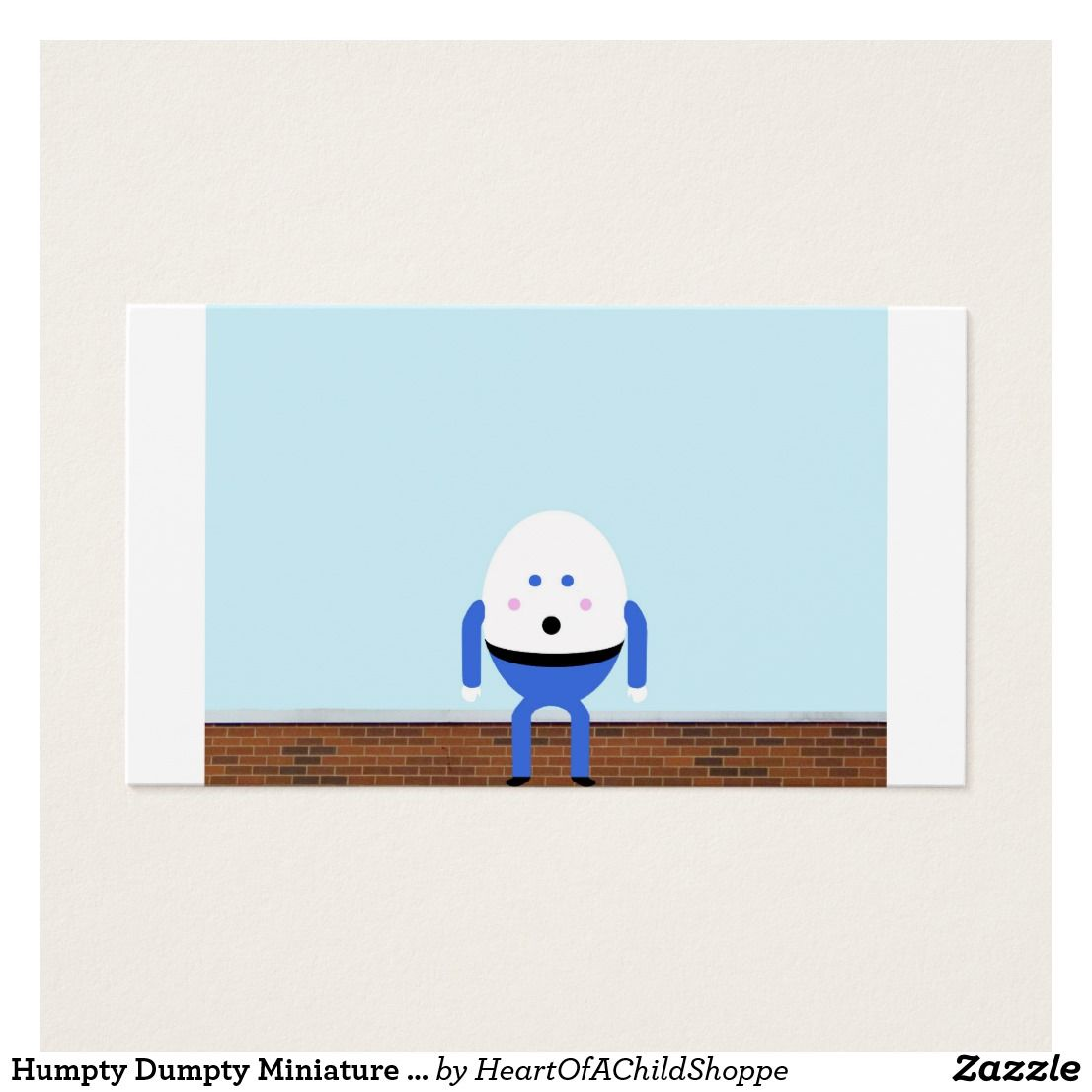 Humpty dumpty miniature dollhouse art business card trim this humpty dumpty miniature dollhouse art business card trim this card frame it and magicingreecefo Gallery