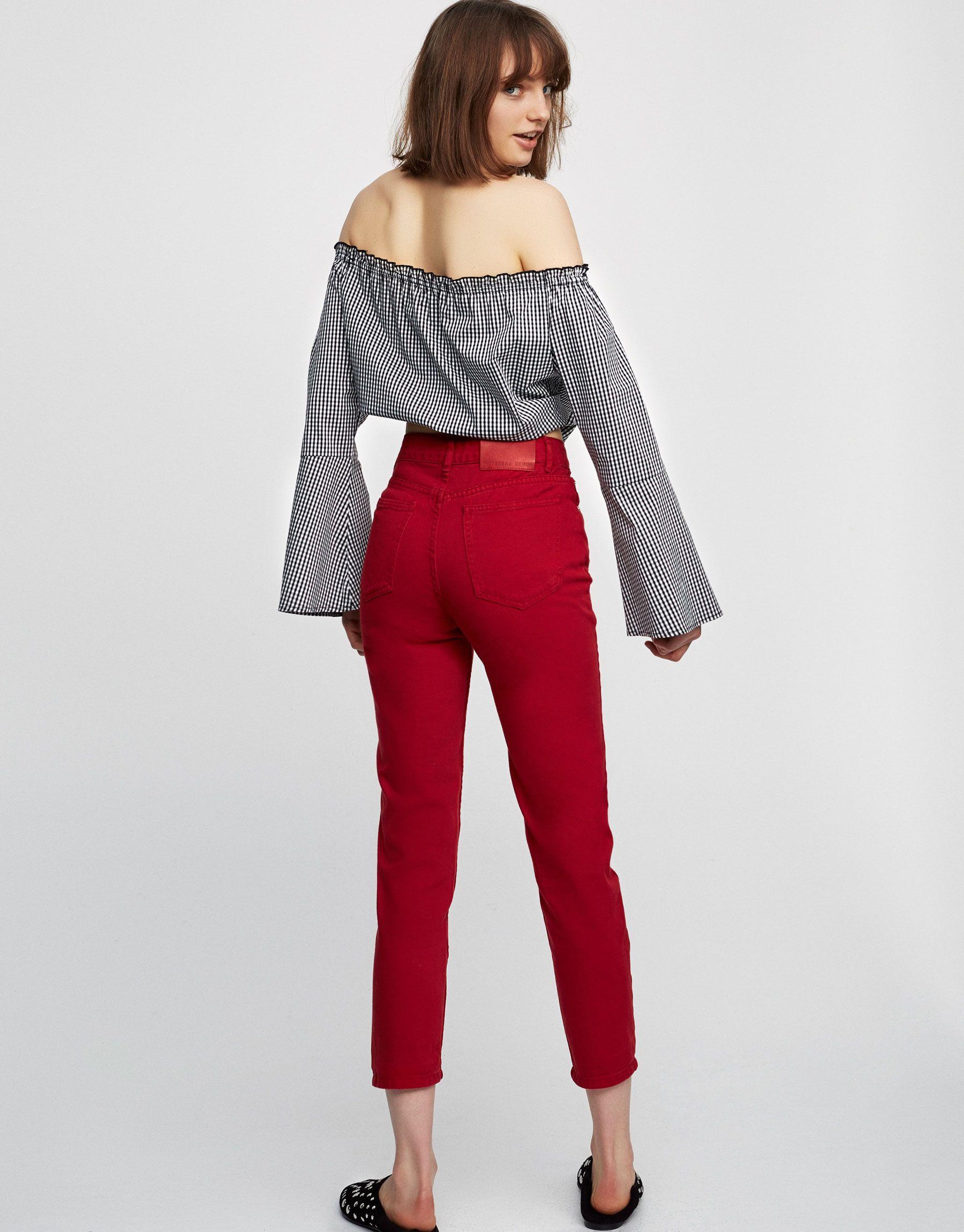 fe4764a923115 Cuerpo crop manga campana - Blusas y camisas - Ropa - Mujer - PULL BEAR  España