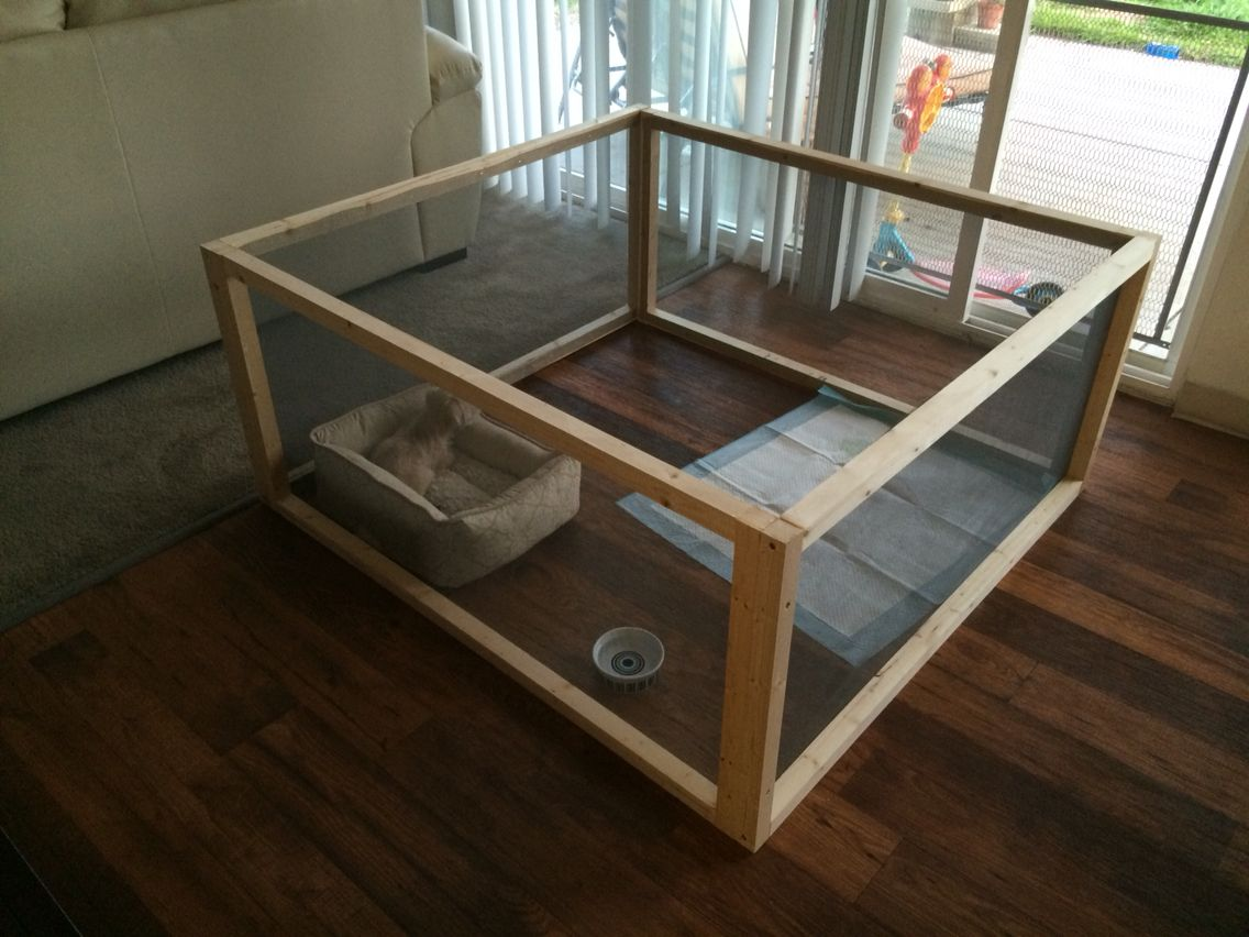 Diy Dog Pen 4x4x2 6 2x2s And 2 Rolls Of Screen 22 Tap