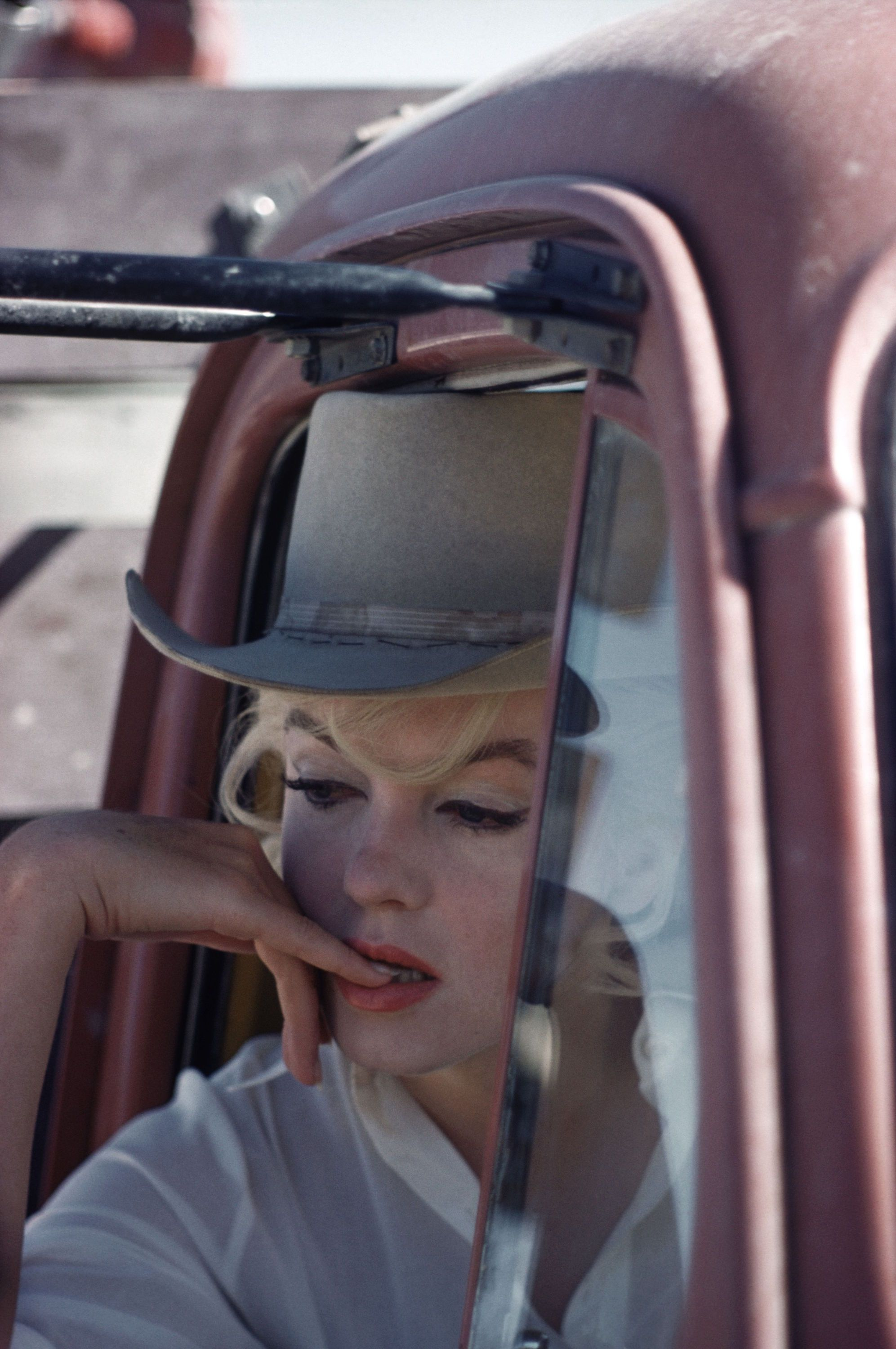 US actress Marilyn Monroe during the filming of \'The Misfits\' by ...
