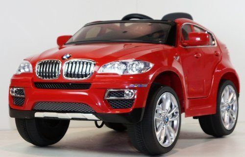 children ride on electric car red bmw x6 license battery ride on wheel motorized dynamic r