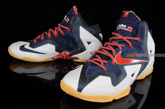 """size 40 5950a 04da8 ... 23 - Air Jordan Release Dates, Foamposite, Air Max, and. Nike LeBron XI  (11) """"Independence Day"""""""