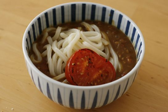 Keema Curry Udon with Burnt Tomato #Japan #Recipe