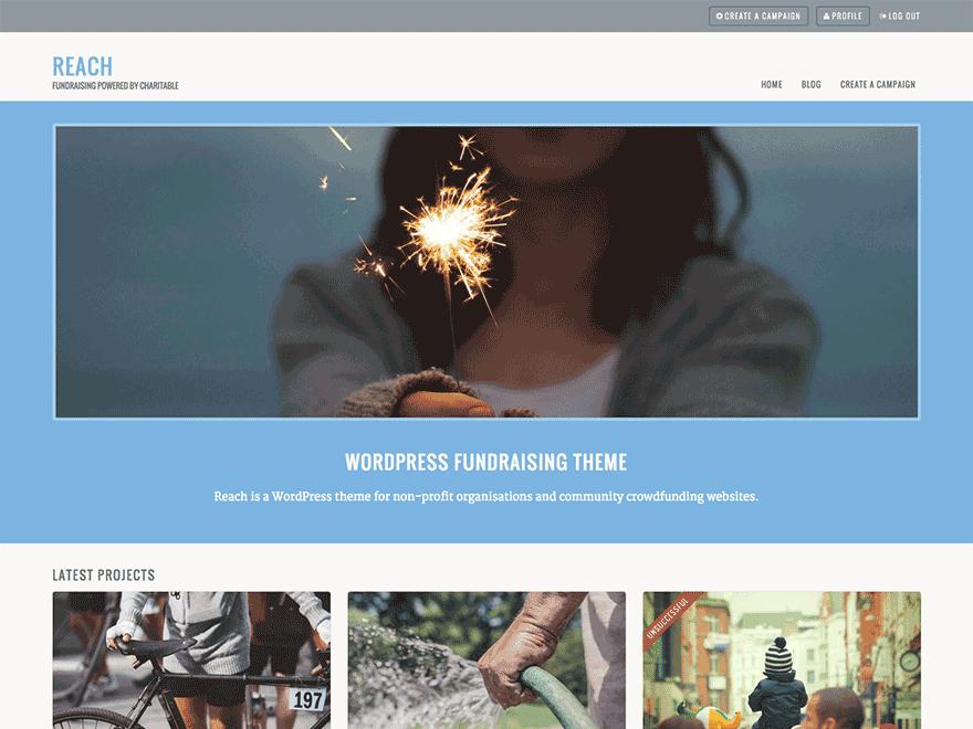 Download Free Reach WordPress theme | Pinterest