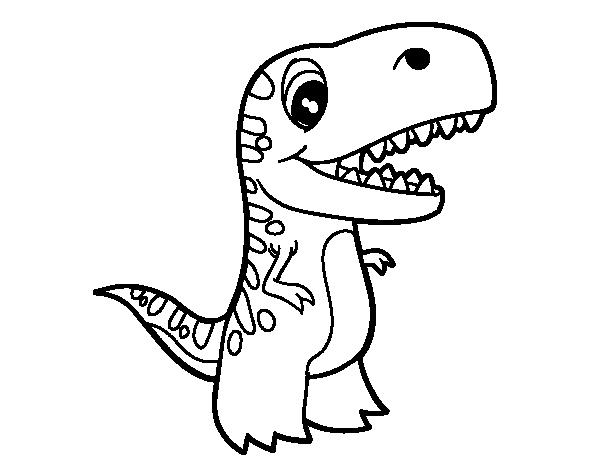 Dibujo de Tiranosaurio bebé para colorear | Coloriage animaux ...