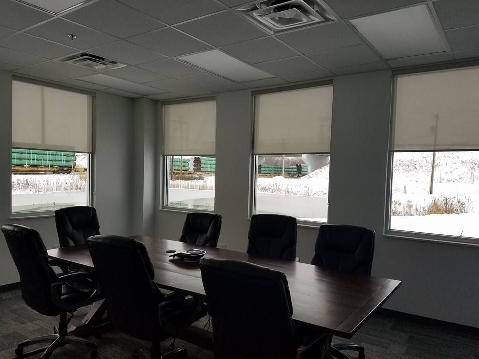 Window Shades and Blinds - Solar Shades in conference Room. https://plus.google.com/+BellagioWindowFashionsToledo/about