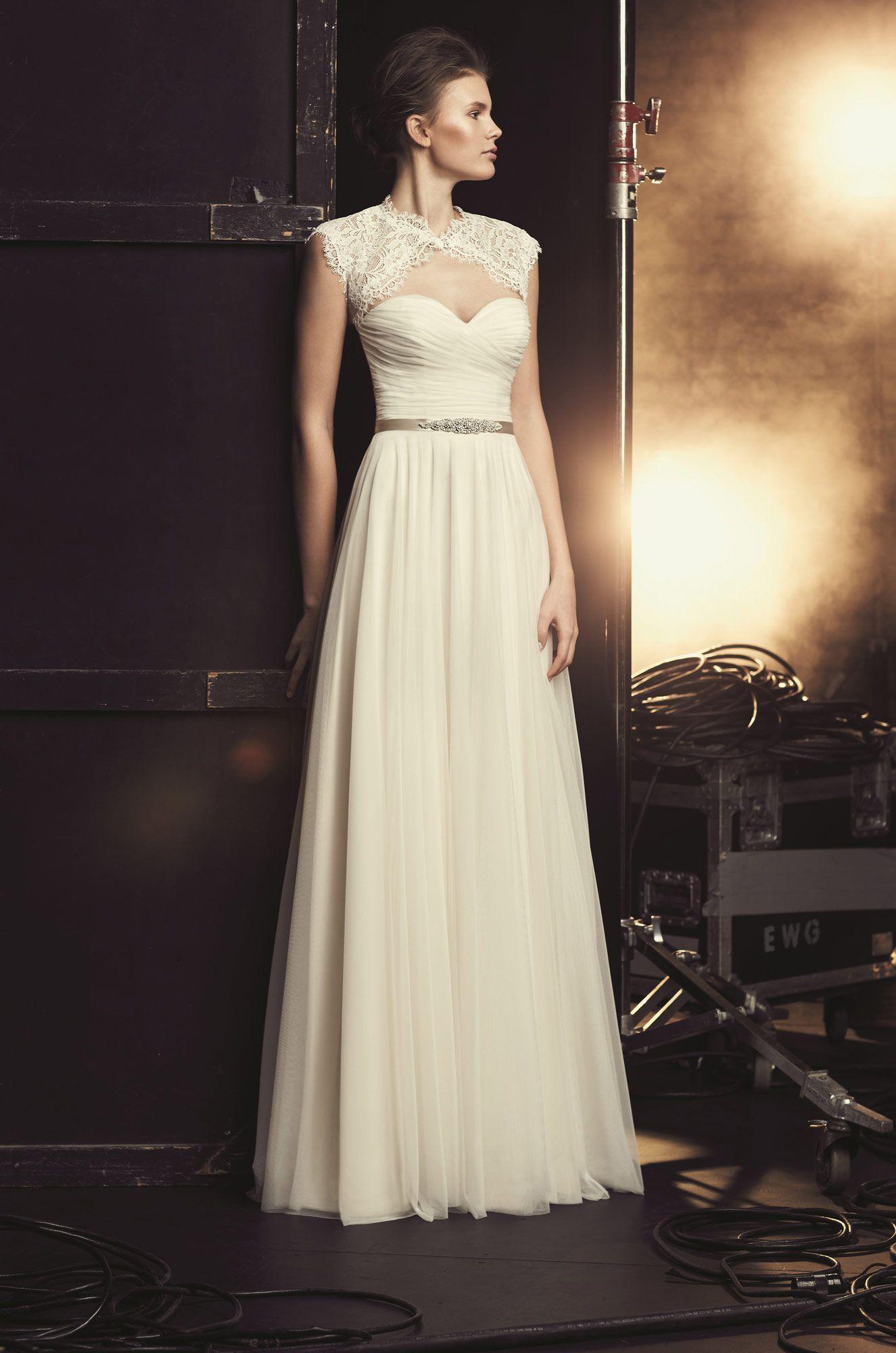 Full tulle wedding dress style mikaella bridal lace