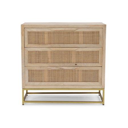 Powell Janie Rattan 3-Drawer Cabinet - Walmart.com