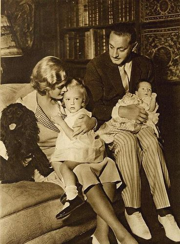 John Barrymore with his wife Dolores Costello and their