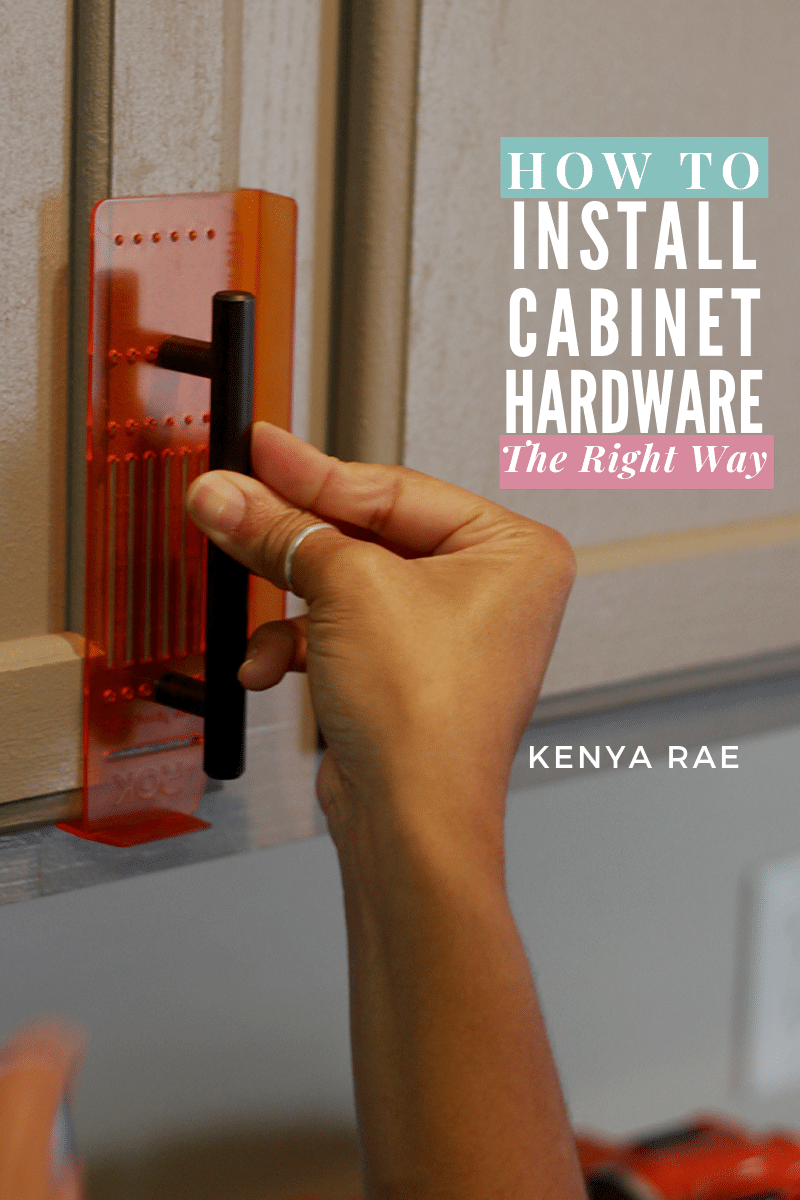 How To Install Cabinet Hardware Evenly Without Messing It Up Installing Kitchen Cabinets Diy Cabinet Handles Cabinet Hardware Template