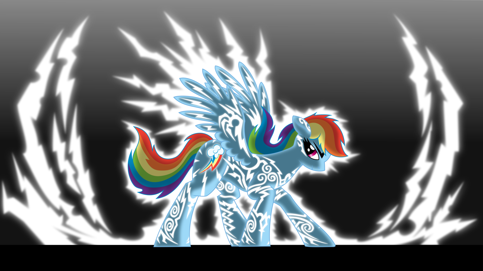 Rainbow Dash lightning.
