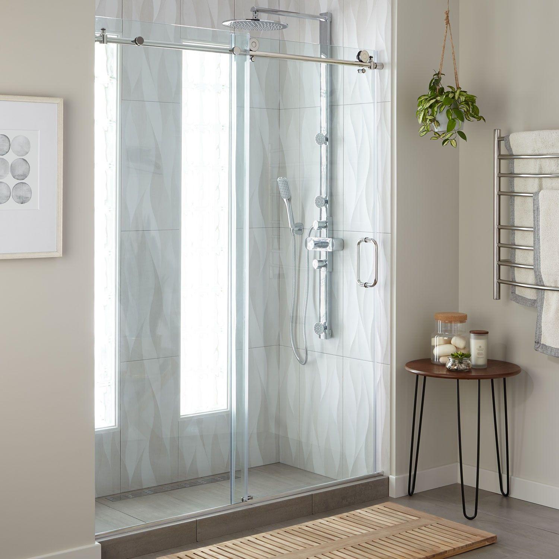 60 Dorsey Frameless Sliding Shower Door Bathroom Designs