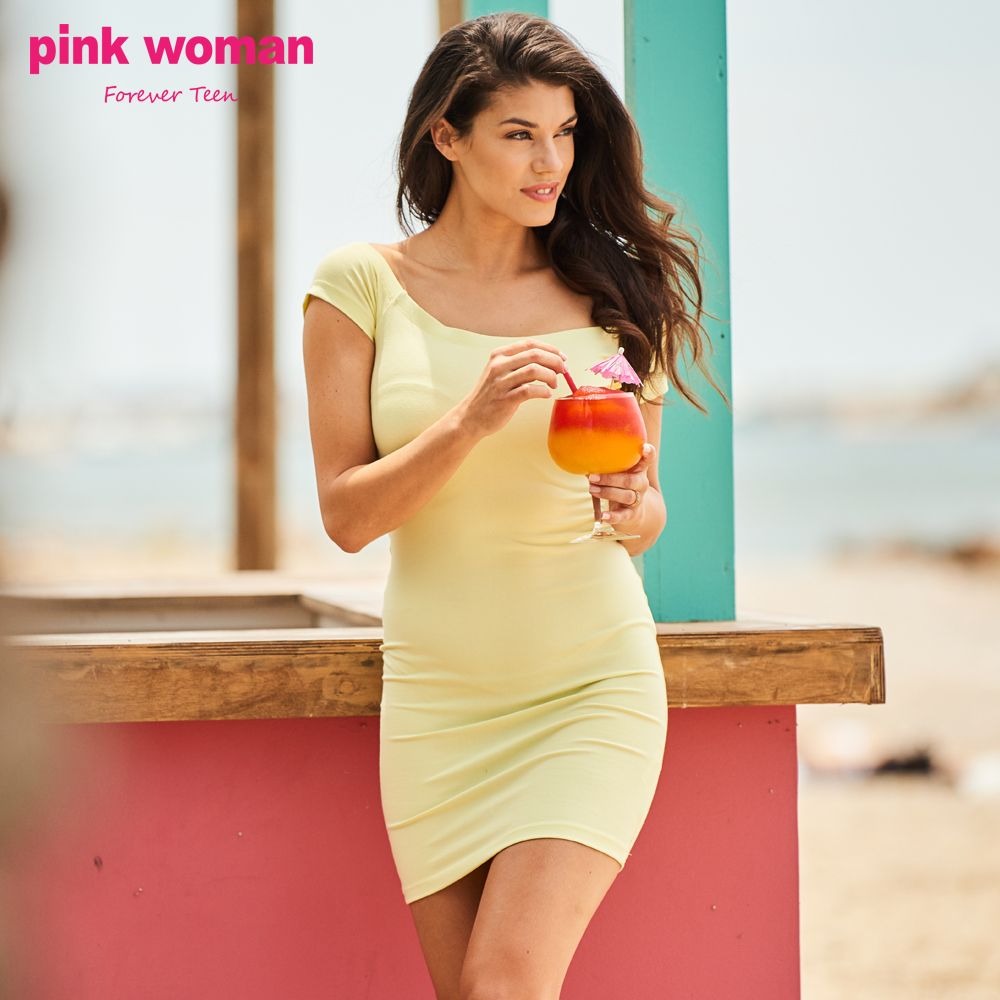 Choose a monochrome dress for the summer days ! Shop online at https://www.pinkwoman-fashion.com/el-gr/