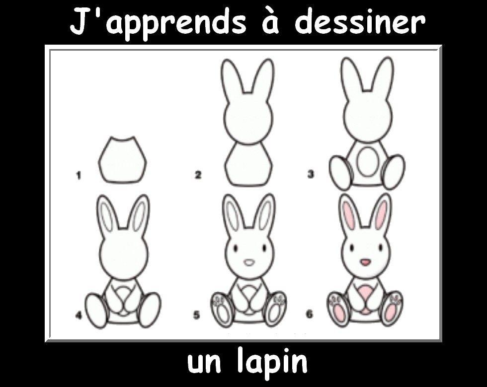 Des fiches j 39 apprends dessiner les animaux activit enfant pinterest - Dessin un lapin ...