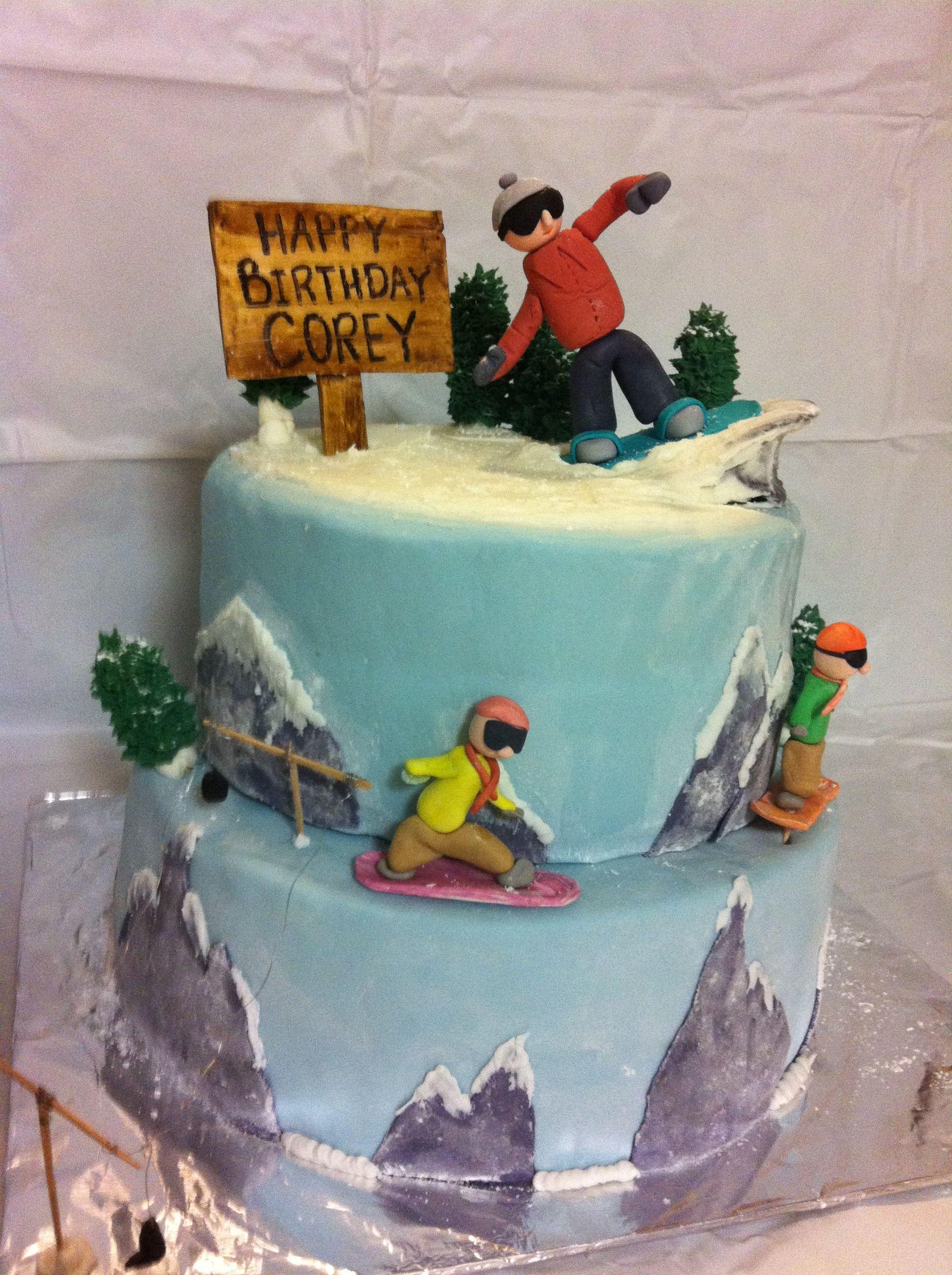 Incredible Snowboard Cake My First Cake Order Snowboard Cake Cake 18Th Funny Birthday Cards Online Drosicarndamsfinfo