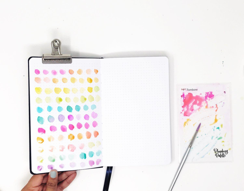 Simple Rainbow Brush Stroke Art