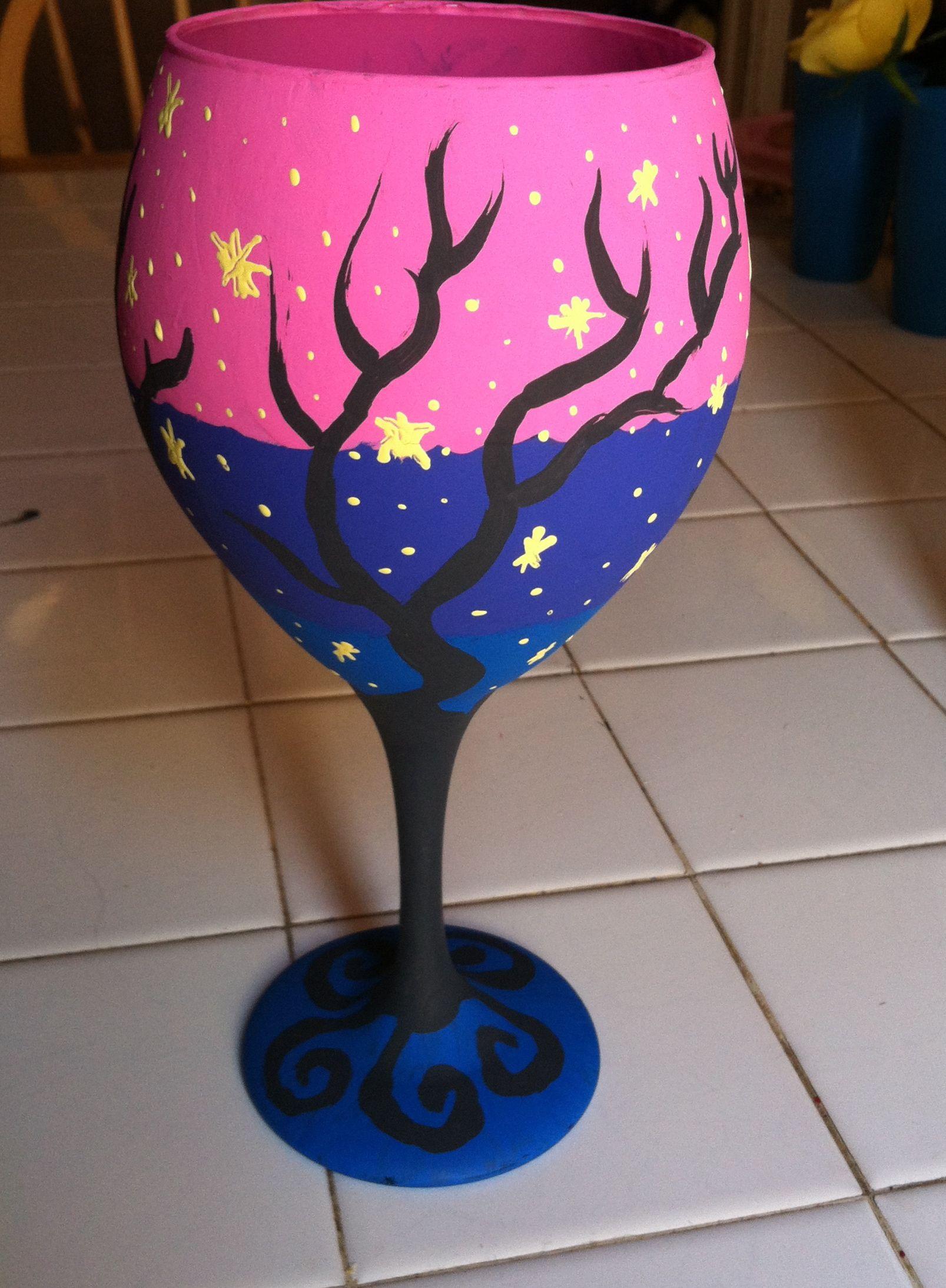 magic night wine glass