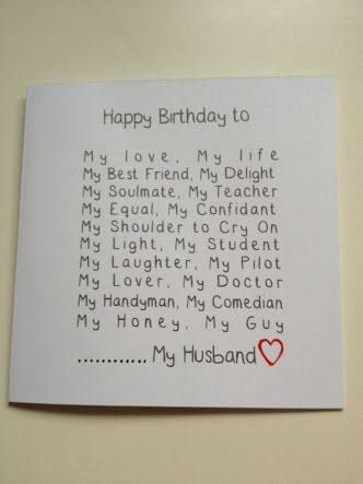 DIY Romantic Handmade Birthday Cards For Husbandcould Also Use This With A Slight Change Valentines Day