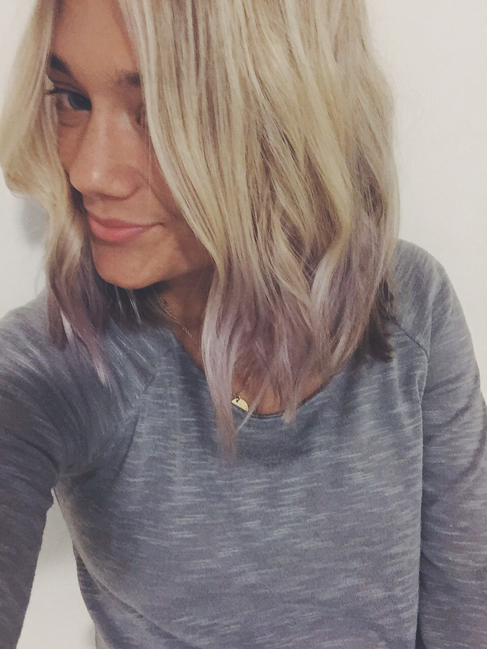 Blonde Hair With Purple Tips Short Blonde Coloredtips Purple