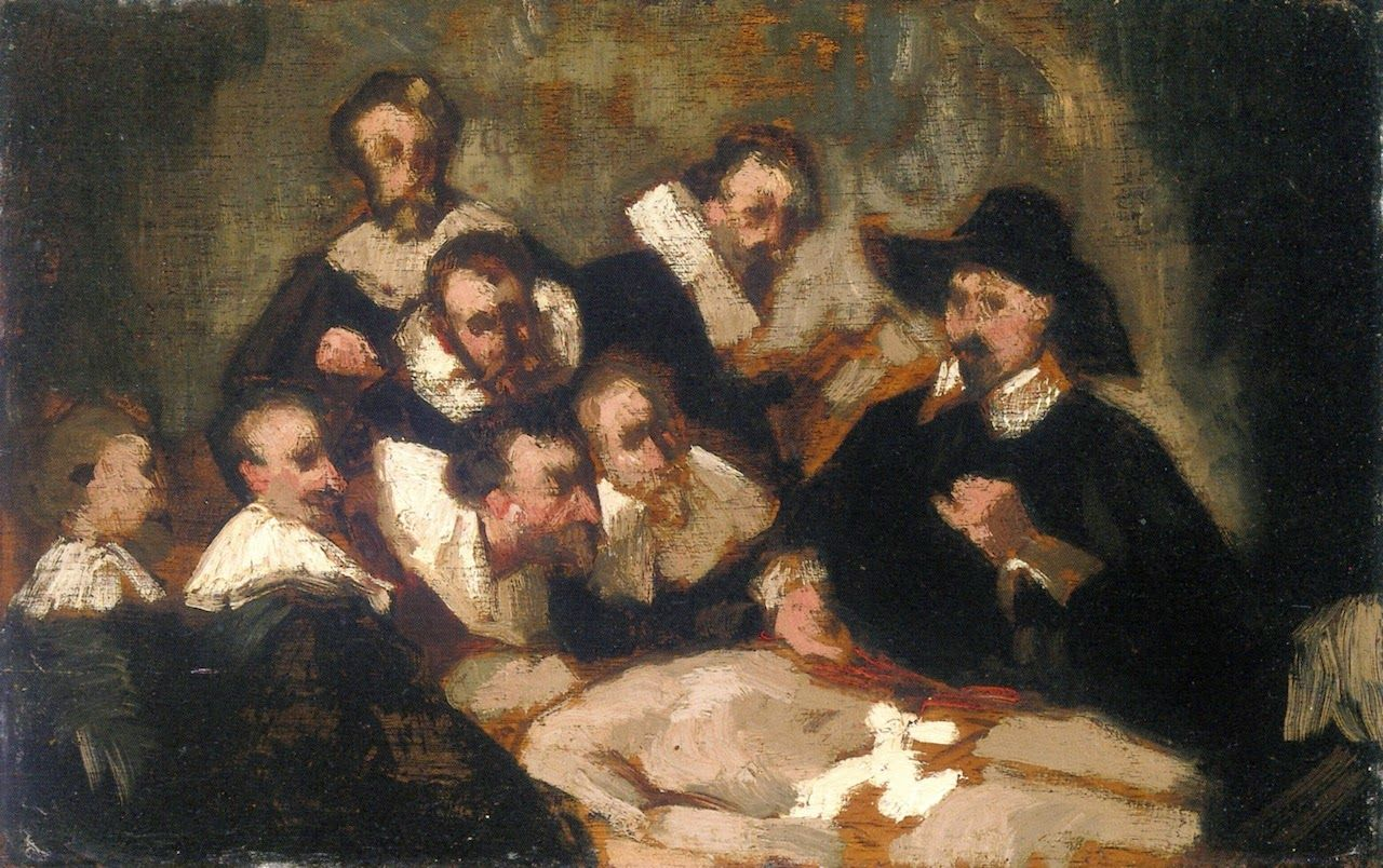 Édouard Manet - 1856c The Anatomy Lesson (after Rembrandt) | Edouard ...