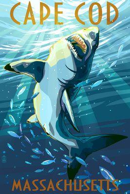 Cape Cod Massachusetts Great White Shark Lantern