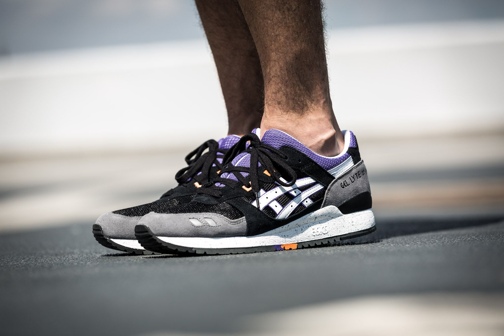 d82e7ebbd319 Asics Gel Lyte III Black Grey-Purple