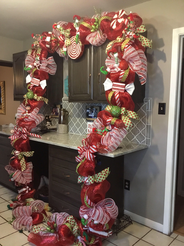 Pin By Csinger67 On Wreaths Ideas Christmas Swags Christmas Decorations Christmas Door