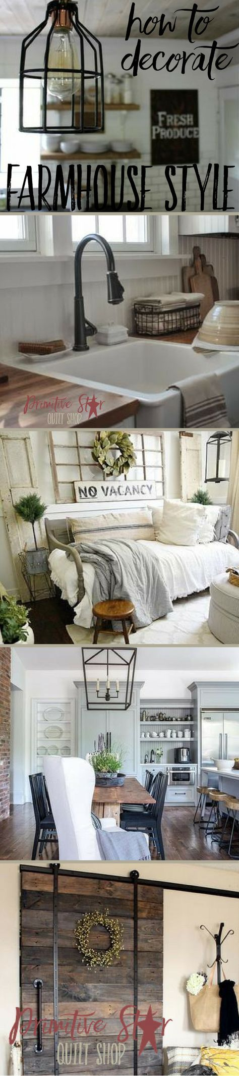 How To Decorate Farmhouse Style | Modern country, Farmhouse style ...