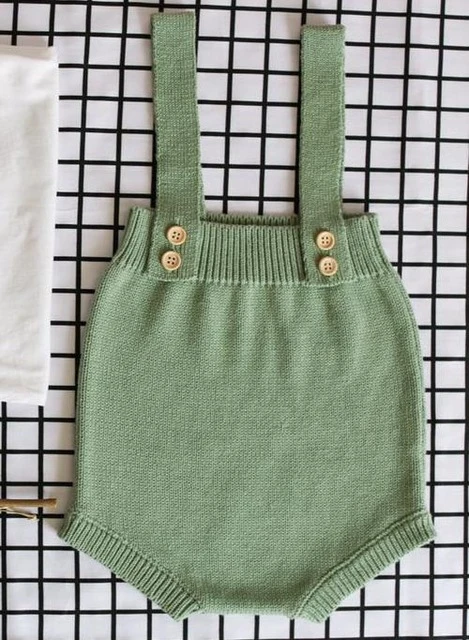 Photo of Baby Knitting Rompers Cute Overalls Newborn Baby Boys Clothes Infantil Baby Girl Boy Sleeveless Romper Jumpsuit 0-24M