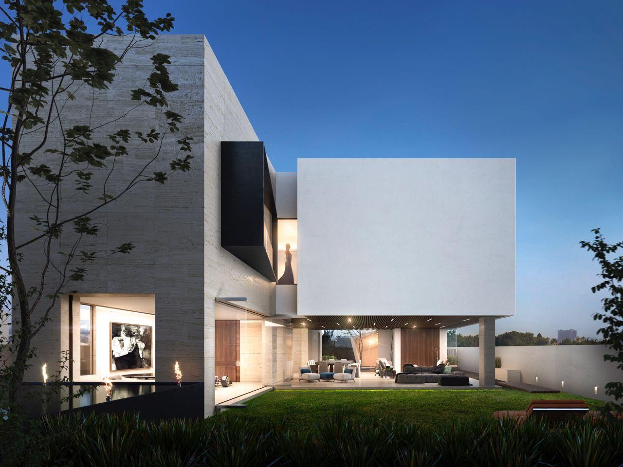 Jard n posterior casa cc de lassala orozco arquitectos en for Casa minimalista definicion
