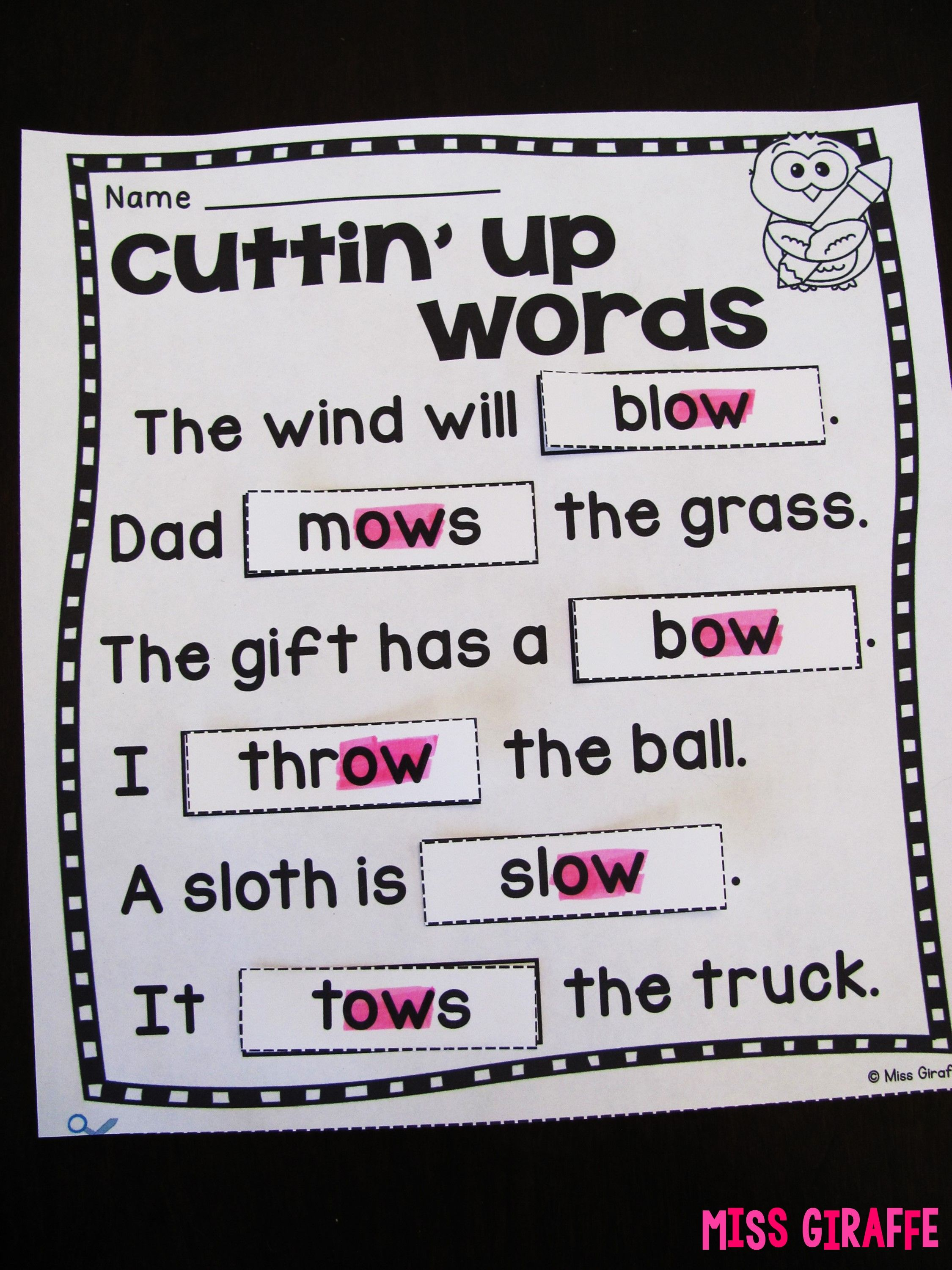 Awesome Differentiated Phonics Worksheets