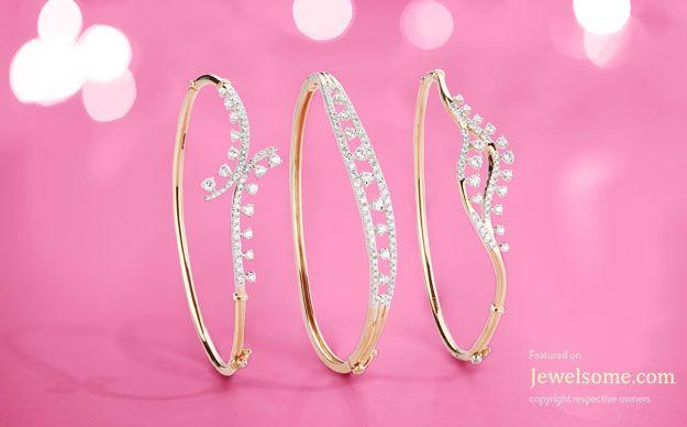 Diamond bracelet in rose gold jewellery