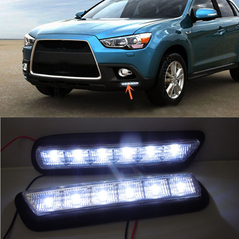 LED Daytime Running Light Fog lamp For Mitsubishi ASX