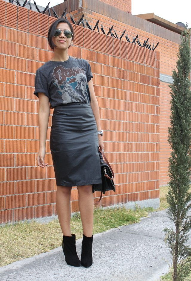 165515ac6a Pull & Bear T Shirts, Tailored Skirts and Zara Ankle Boots | My ...