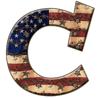 Alfabeto Con Bandera De Usa Vieja Alphabet With The Usa Flag In Metal Bandera De Usa Letras Colores Alfabeto