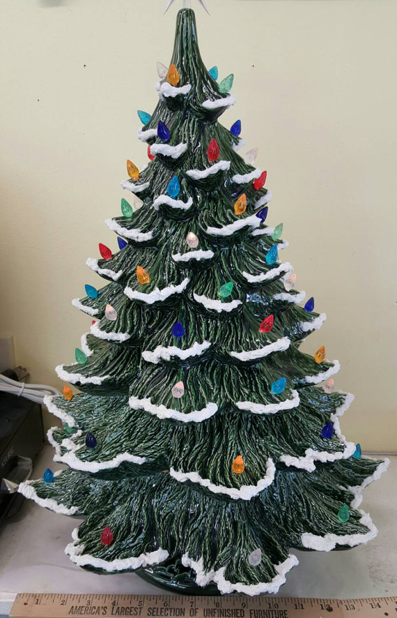 Ceramic Christmas Tree Extra Large Nowell Rough Branch