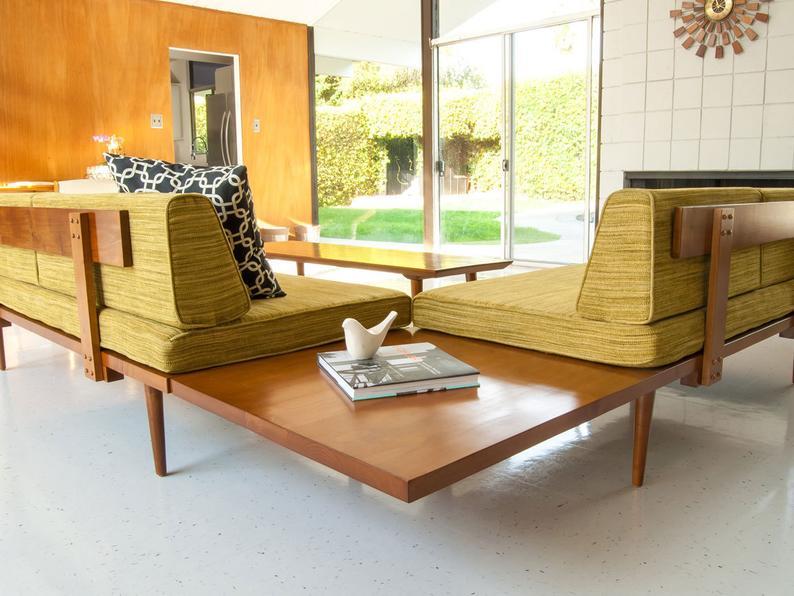 Mid Century Modern Daybed Casara Modern Classic Sectional Sofa Etsy Mid Century Modern Daybed Mid Century Modern Furniture Modern Furniture